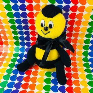 "vintage 12"" plush bumble bee Brechner toy bug"